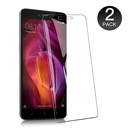 WieStoung 2-Unidades Cristal Templado Xiaomi Redmi Note 4 Protector  Pantalla, Vidrio Templado Protector Xiaomi Redmi Note 4,9H Dureza/Alta