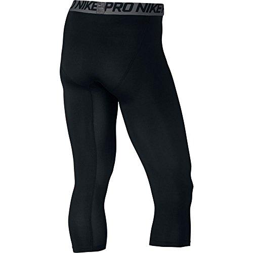 Nike, Maglietta Donna con cerniera a 3/4 Nero/Dark Grey/Bianco