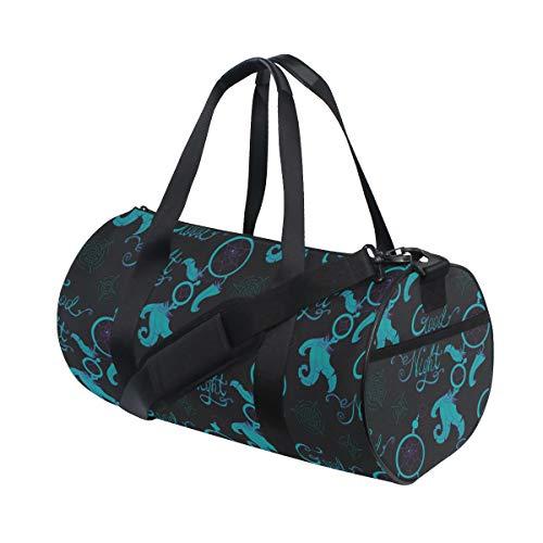 PONIKUCY Bolsa de Viaje,Plumas de atrapasueños de Patrones sin Fisuras en,Bolsa de Deporte con Compartimento para Sports Gym Bag