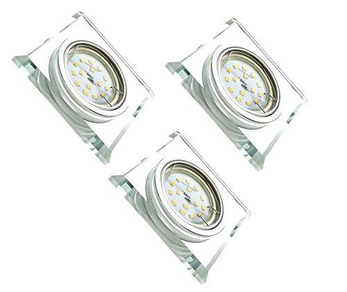 Trango 3 conjunto Diseño LED empotrado Spot TG6729S-03GU5SD Focos empotrables, focos de...