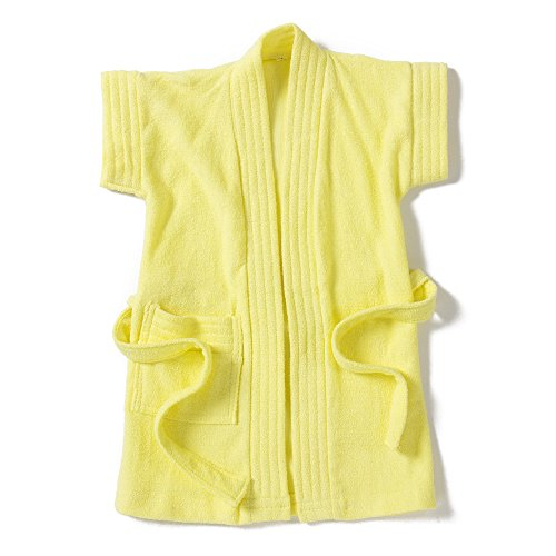 Pebbles Soft Baby Bathrobe -Yellow