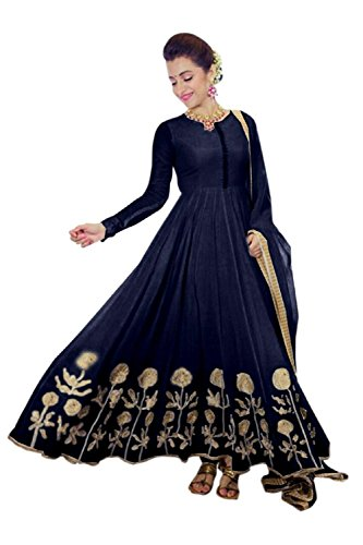 Attire Design Presents Latest Fancy Special Offer New Arrival High Quality Women Anarkali Georgette Embroidery Semi Stitched Salwar Suit Gown Dress material