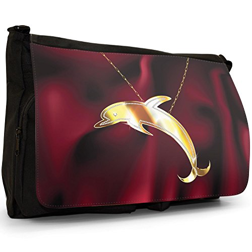 Fancy A Snuggle, Borsa a spalla donna Jumping Dolphin On Chain