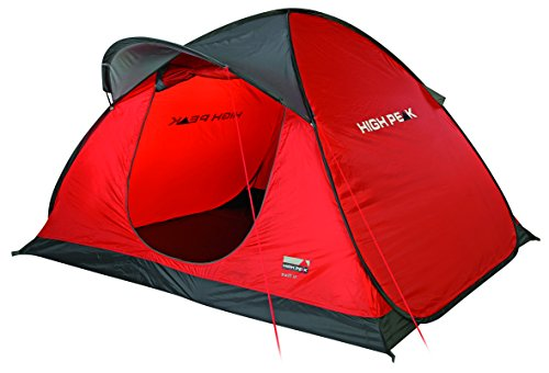 High Peak Pop Up Zelt Swift 3, Rot/Grau/Schwarz, 10143