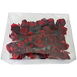 Fashion Wedding Bridal Red Flower Hair Pins / Hair Accessories For Wedding (24 Pcs)