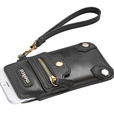 Apple iPhone 6S / 6 Melkco Hex-Rock Série Rocher Pochette PU Case Et Crafted main Porte-monnaie stand Case Fashion Wallet Carlo Noir 1