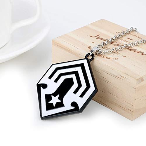 DADATU Halsketten für Herren Fashion Halo 5 Aureole Spartan Choker Hales Pendants Spiel Schmuck Halskette Souvenir Schild Emblem Halsketten Männer Kühlen Geschenk