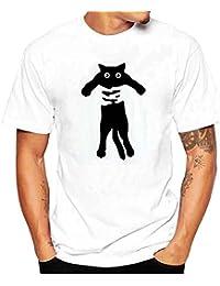 Kinlene Camisa Hombre, Camisetas De ImpresióN De Tallas Grandes Verano Camiseta De Manga Corta De