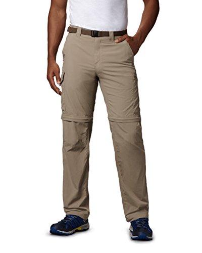 Columbia 2-in-1 Wanderhose für Herren, Silver Ridge Convertible Pants, Nylon, beige (Tusk), Größe: 36, AM8004
