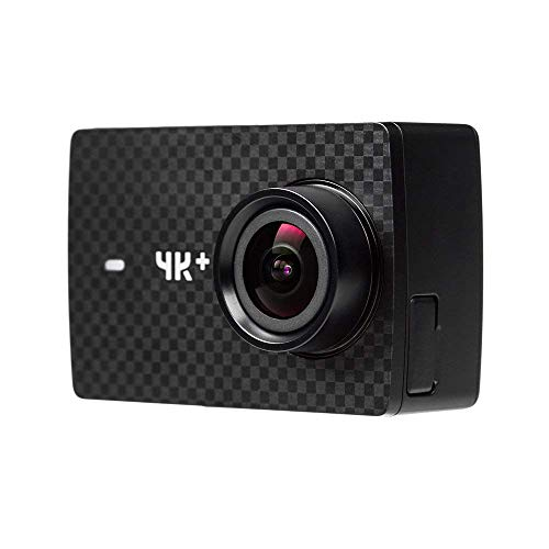YI 4K Plus Action Kamera 4K/60fps 12MP Action Cam mit 5,56 cm (2,2 Zoll) LCD Touchscreen 155° Weitwinkelobjektiv, Sprachbefehl, WiFi und App für IOS/Android - schwarz 30fps Pc