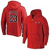 MFsports Chicago Bulls Michael Jordan Zip up Hoodies Kapuzenober, Hoodie für Herren Zipper Jacket Hoodies Sweatshirts, Männer Basketball Sport Breathable Kapuzen Jacke