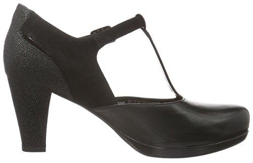 Clarks Damen Chorus Gia Pumps Schwarz (Black Leather)