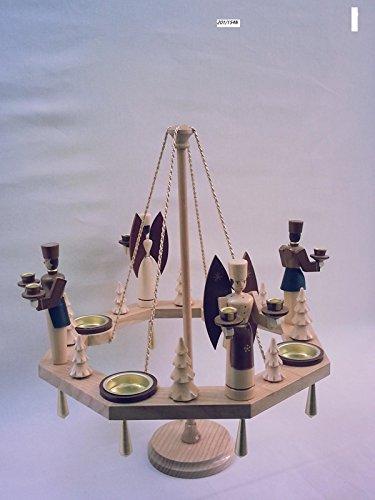 Tischkranz natur mit Teelicht/Engel und Bergmann Ø =38 cm NEU Weihnachtskranz Tischdeko Weihnachten -