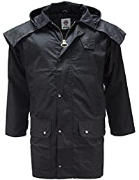 WWK Mens Short Wax Western Duster Drover Stockmans Jacket