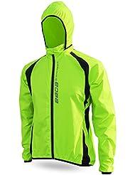 Cyclisme Vélo Hommes Windproof Imperméable Vélo à manches longues vent Vestes à capuchon S-XXXL