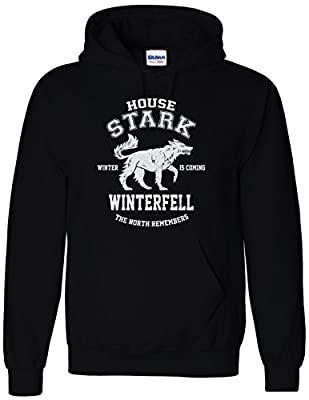 Inspired House Stark Game of North Remembers Thrones Hoodie Sweatshirt
