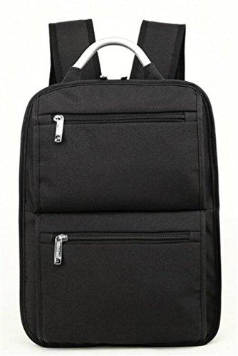 YANFEI Laptop Square Rucksack Mann und Frau Student Freizeit Taschen Reisen Rucksäcke Mode Portable Leichtgewicht Hohe Kapazität Breathable , black black
