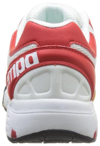 Kempa Tornado Women, Chaussures de sports en salle femme Blanc - Weiß (weiß/rot/fluo gelb 02)