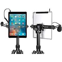 Neewer Tablet Soporte Trípode, 16-23,5 Centímetros Abrazadera Pinza Ajustable para iPad Mini iPad 2/3/4, iPad Air/Air2, iPad Pro Microsoft Surface Samsung Tab 7.0 Series