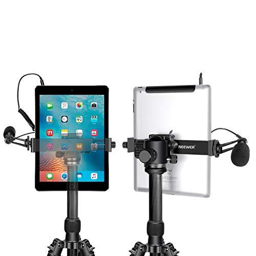 Neewer iPad Tablet Stativhalterung Adapterhalterung, 6.3-9.25 Zoll / 16-23.5 Zentimeter Verstellbare Klammer für iPad Mini iPad 2/3/4, iPad Air/Air2, iPad Pro Microsoft Surface Samsung Tab 7.0 Series