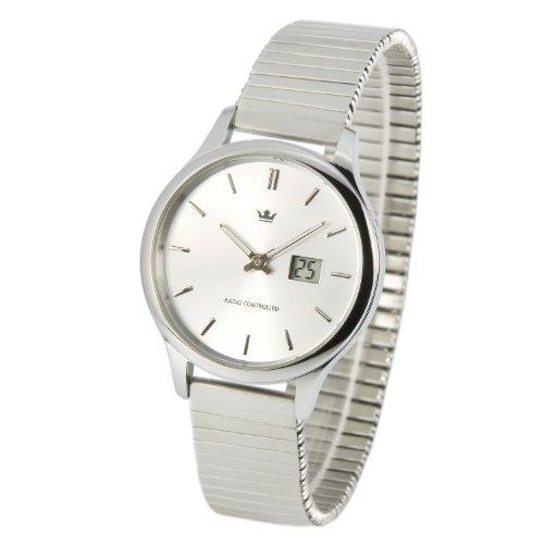 MARQUIS Damen Funkuhr, Gehäuse und Armband aus Edelstahl, Armbanduhr, Junghans-Uhrwerk 964.4005