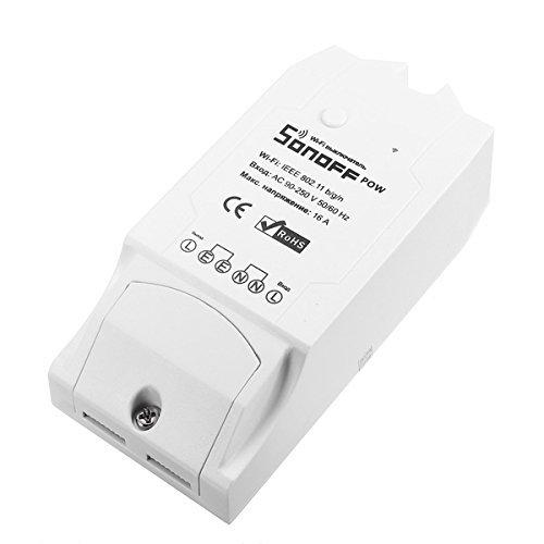 HEANTTV interruttore intelligente con Power Statistics,interruttore wireless per luce,interruttore wifi per ventilatore,interruttore a distanza tramite iphone,16A sonoff pow interruttore della luce