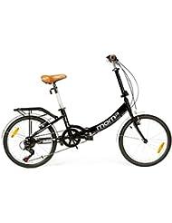 """Moma - Bicicleta Plegable ruedas 20"""" SHIMANO, 6 velocidades, aluminio, con bolsa de transporte"""
