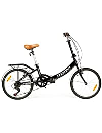 "Moma - Bicicleta Plegable ruedas 20"" SHIMANO. Aluminio, con bolsa de transporte"