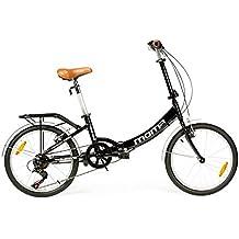 "Moma - Bicicleta Plegable ruedas 20"" SHIMANO, 6 velocidades, aluminio"