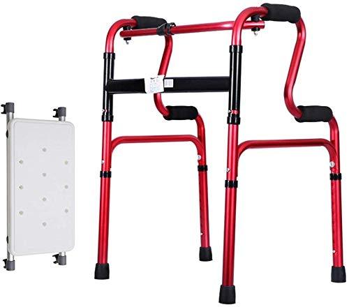Allzweck-Gehhilfe, leicht 2,2 kg Faltbarer Rollator Gehhilfe ohne Rad Vier Beine Gehstock Stehend Toilettenrahmen Dusch-/Badhocker für Erwachsene Senioren Behinderte |Einstellbare Höhe 70-78cm