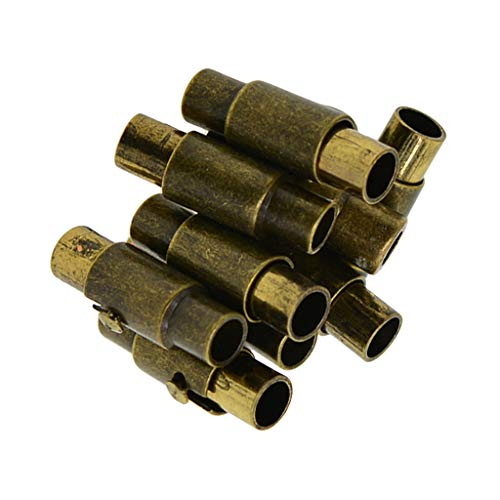IPOTCH 10 Unità Chiusura Connettori Accessori di Produzione Polso Dimensione di Buco Interno 3 mm - bronzo