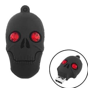8 GB Black Skull Shaped Fancy USB Pen Drive