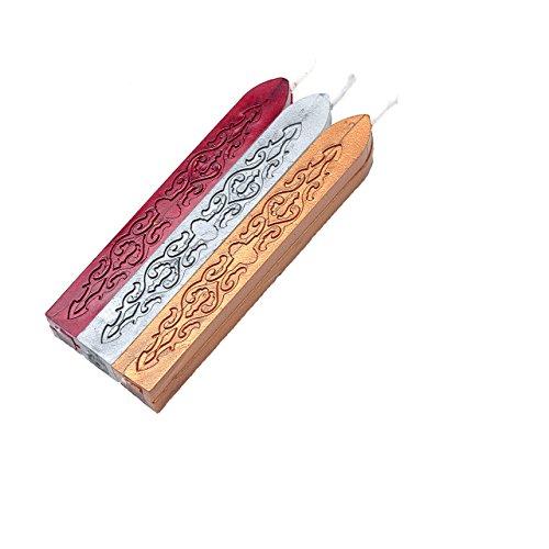 Mogoko Rosenholz Wachs Siegelstempel Stempel mit Gravur incl. 3 Stangen Mix Farben Siegelwachs … - 6