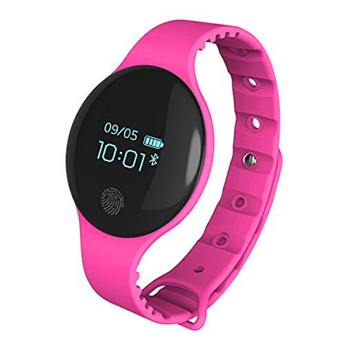 Moda Orologi intelligenti, Allskid Unisex Adolescente Ragazzi Ragazze Bluetooth Contapassi Elettronico Orologi Smartwatches (37 * 6mm, Hot Pink)