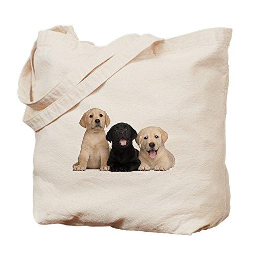ador Welpen–Leinwand Natur Tasche, Reinigungstuch Einkaufstasche, canvas, khaki, S (Lustig Lab Welpen)