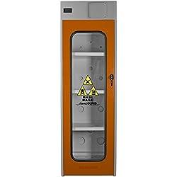 MOMOLINE CMGV-60-BASE CHEMIGUARD BASE Armoire de Sécurité pour le Stockage de Produits Chimique, Un Seul Compartiment, Porte Vitrée avec Fenêtre en Lexan, Orange