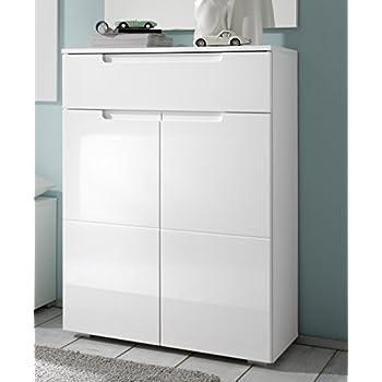 schuhschrank schuhkommode spice wei mdf wei hochglanz. Black Bedroom Furniture Sets. Home Design Ideas