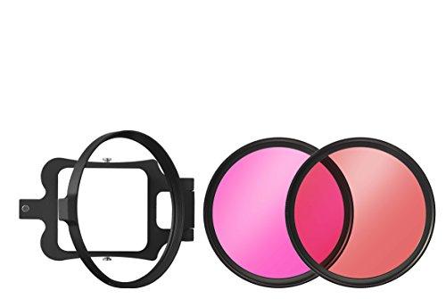 B+W Unterwasser Filter-Set für GoPro Hero 3, Hero 3+ und Hero 4 Bestehend aus Filterhalter Sowie Rot- und Magenta Filter
