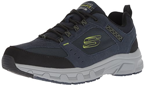Skechers Herren Oak Canyon Sneaker, Blau (Navy Lime Nvlm), 46 EU (11 UK)