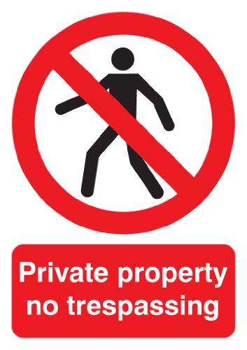 Preisvergleich Produktbild Signs & Labels FPH05551R Schild,  Aufschrift: Private Property No Trespassing (Privateigentum - Betreten verboten)