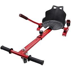 Hiboy 8435518000358 Siège Hoverboard Équilibre Auto Compatible avec Toutes Les trottinettes électriques de 6,5, 8 et 10 Pouces, Enfants, Kart Rouge
