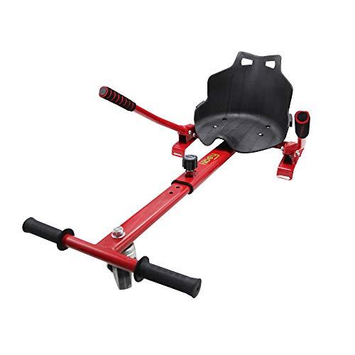 Hiboy, 8435518000358, Sitz, Hoverboardsitz, selbstabgleichend, kompatibel mit Allen 6,5-, 8-, und 10-Zoll-Elektro-Hoverboards, für Kinder, Gokart-Farbe: rot