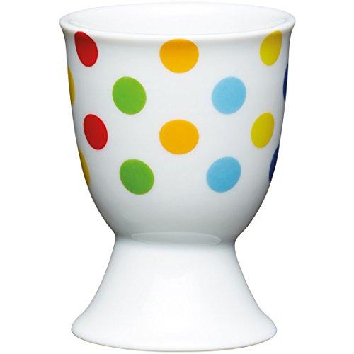 Kitchen Craft Eierbecher Punkte aus Porzellan, Mehrfarbig 12 x 17 x 22 cm preisvergleich