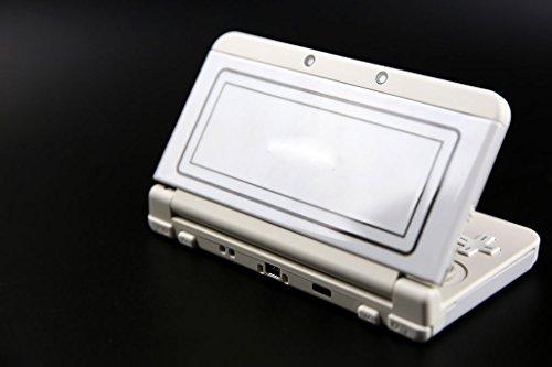 Für Nintendo Neue 3DS Version Vorne zurück Frontplatte, Teller und Oben Rückseite Akku Gehäuse Case Cover (Weiß) (Xl-akku-case 3ds)
