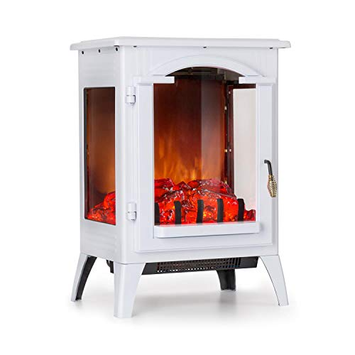 Klarstein Graz • Cheminée électrique Chauffage • 1000W 2000 W • Thermostat • Blanc