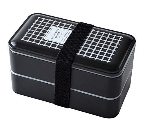 Lebensmittelbehälter, Bequeme Bento-Lunchbox, Lunchpakete für Kinder, Mikrowellensicher, wiederverwendbarer Geschirrbehälter, 2 Schichten