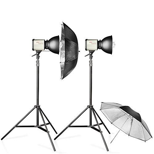 Walimex Studioset Daylight 150/150 (Dauerlicht, Lampenstativ, Reflexschirm)