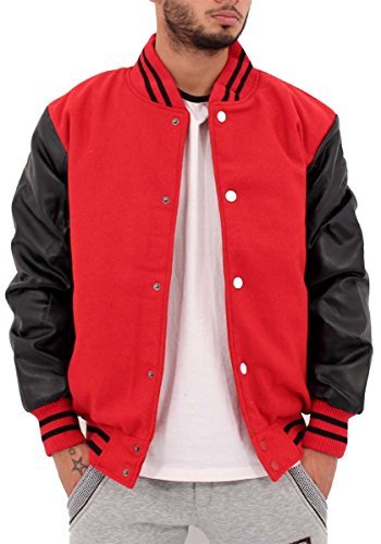 big-dawg-special-mens-boys-faux-leather-sleeve-bomber-varsity-baseball-jacket-l-red