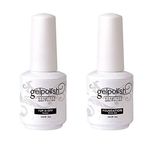 Preisvergleich Produktbild kanorine Gel Nagellack Foundation Top Coat Sockel Soak-off-UV-LED Trocknen Lack 15 ml 2
