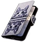 Huawei P10 Lite Hülle,Huawei P10 Lite Klapphülle,MoreChioce 3D Glitzer Ledertasche Katze Spiegel Muster Bling Glanz Funkeln Leder Flip Schutzhülle Bookstyle Handytasche kompatibel für Huawei P10 Lite